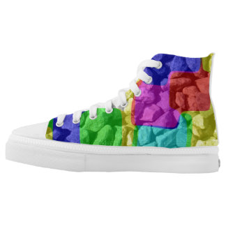 In color cpace printed shoes
