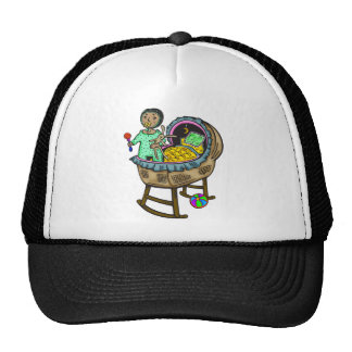 In Crib With Toys Trucker Hat