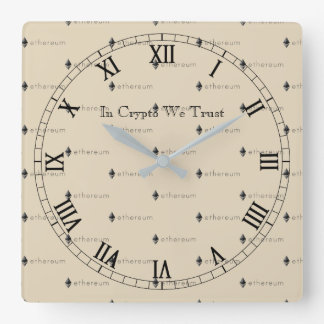 In Crypto We Trust Ethereum Tiled Wall Clock V3