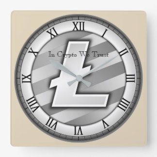In Crypto We Trust Litecoin Centered Wall Clock