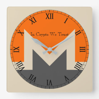 In Crypto We Trust Monero Centered Wall Clock