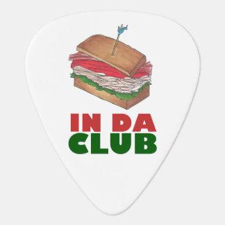 In Da Club Turkey Club Sandwich Funny Foodie Diner Plectrum