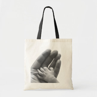 In Daddy's Hand Budget Tote Bag