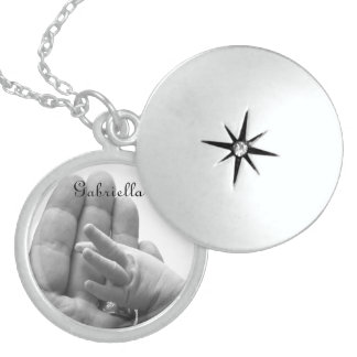 In Daddy's Hand - Personalized Locket Necklace