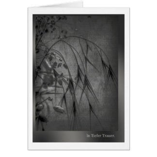 In deep mourning card