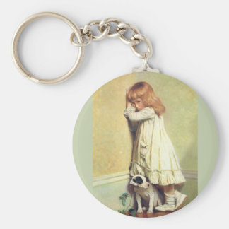 In Disgrace by Charles Burton Barber Basic Round Button Key Ring
