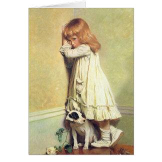 In Disgrace by Charles Burton Barber, Vintage Art Card
