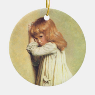 In Disgrace by Charles Burton Barber, Vintage Art Christmas Ornament