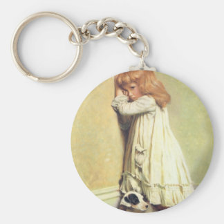 In Disgrace by Charles Burton Barber, Vintage Art Key Ring