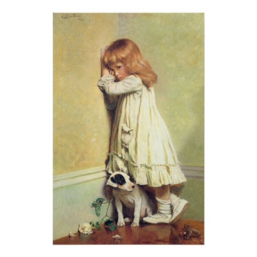 In Disgrace by Charles Burton Barber, Vintage Art