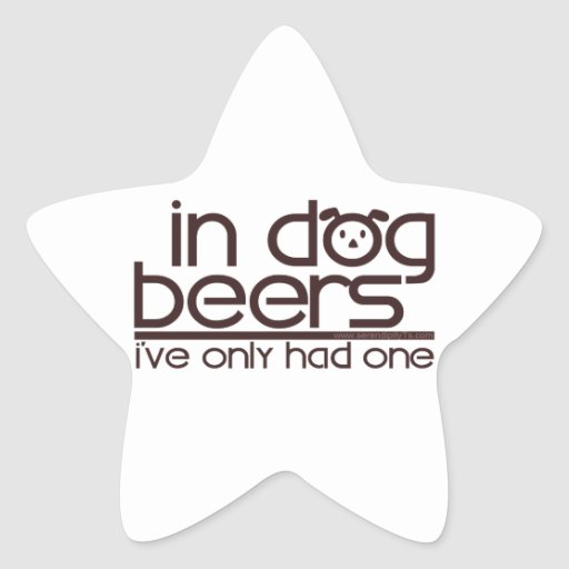 In Dog Beers (w/Dog) Stickers