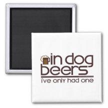In Dog Beers (w/Mug) Fridge Magnet