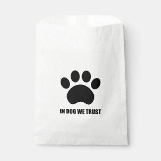 In Dog We Trust Favor Bag