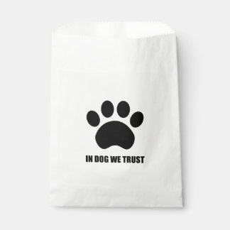 In Dog We Trust Favor Bag Favour Bags