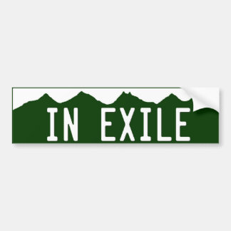 in_exile bumper sticker