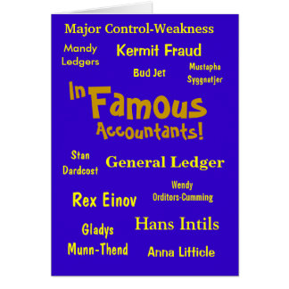 In-Famous Accountants! Greeting Card