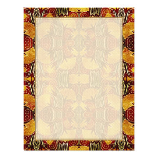 In Flames - Art Deco Pattern 21.5 Cm X 28 Cm Flyer