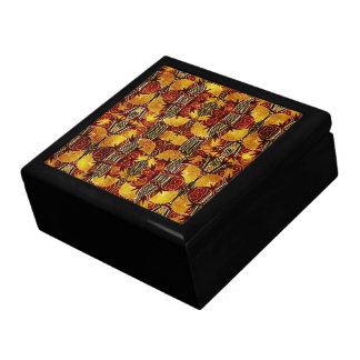 In Flames - Art Deco Pattern Large Square Gift Box