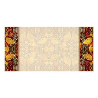 In Flames - Art Deco Pattern Personalized Photo Card