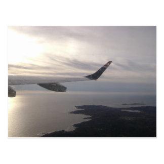 In flight postcard