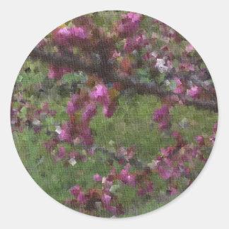 In Full Bloom Round Sticker