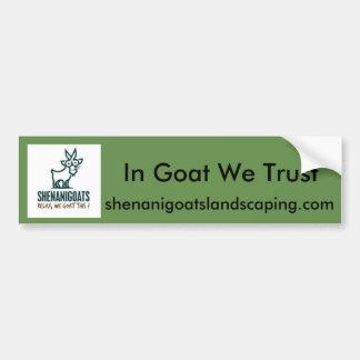 IN goat we trust bumper sticker