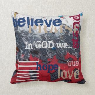 In God we......pillow Throw Pillow