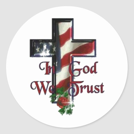 "In God We Trust 1.5"" Round Sticker"