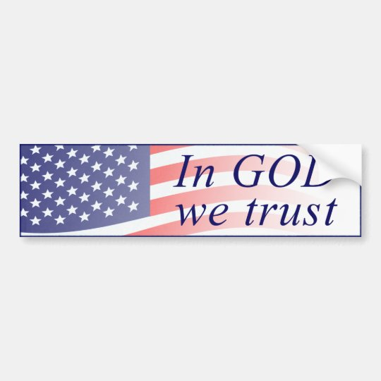 In God We Trust American Flag Bumper Sticker