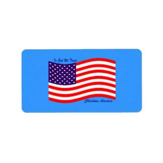 In God We Trust ~ Christian America Label