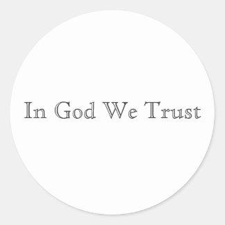 In God We Trust Classic Round Sticker