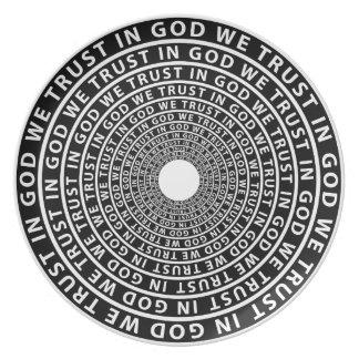 In God We Trust Dinner Plate