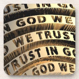In God We Trust Drink Coaster