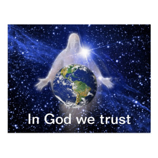 In God We Trust Our World Postcard
