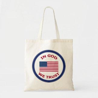 In God We Trust Patriotic Fabric Tote Bags