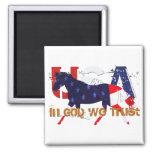 In God We Trust-Patriotic Horse Refrigerator Magnet