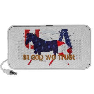 In God We Trust -Patriotic Horse Travel Speakers