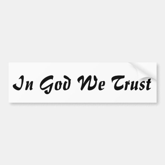 In God We Trust Patriotic USA Faith Bumper Sticker
