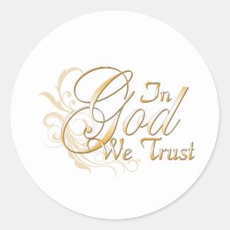 In God We Trust Round Sticker