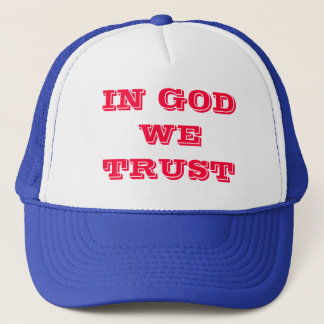 IN GOD WE TRUST TRUCKER HAT