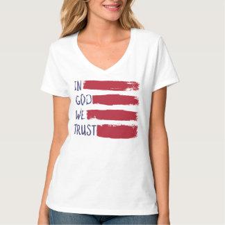 IN GOD WE TRUST USA American Flag T-Shirt