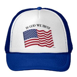 In God We Trust with US flag Cap