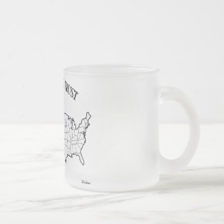 In God We Trust with US outline Mugs