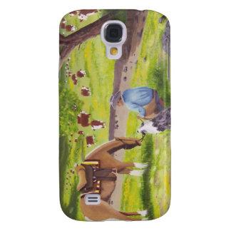 In Gods Country Cowboy Australian Shepherd Galaxy S4 Covers