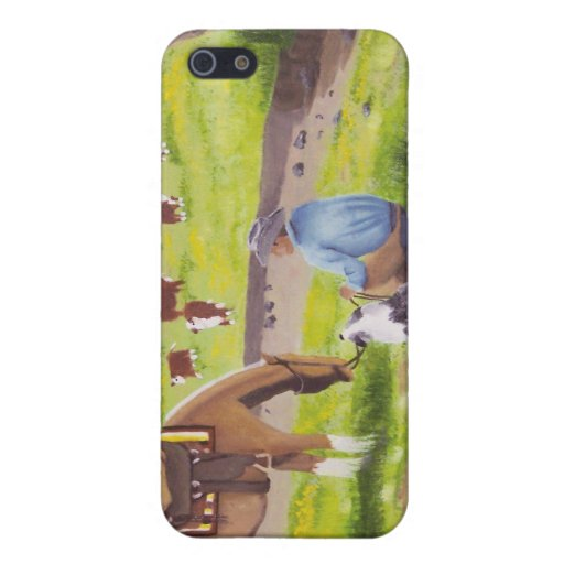 In Gods Country ~ Cowboy & Australian Shepherd iPhone 5 Cover