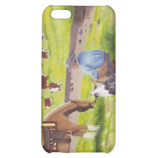 In Gods Country Cowboy Australian Shepherd iPhone 5C Cover