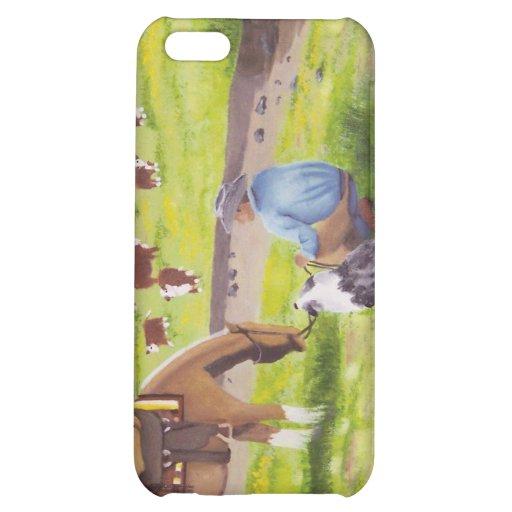 In Gods Country ~ Cowboy & Australian Shepherd iPhone 5C Cover