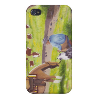 In Gods Country Cowboy Australian Shepherd Cases For iPhone 4