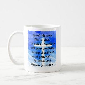 In God's Hands Basic White Mug