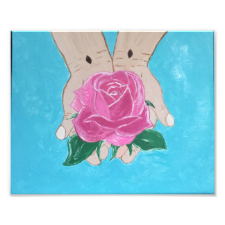 In His Hands Photo Print